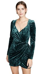 Saylor Gray Dress Emerald