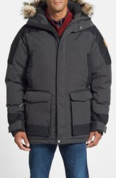Fjall Raven Men's Fj Llr Ven 'Kyl' Waterproof Goose Down Hooded Parka With Detachable Faux Fur Trim Dark Grey