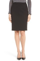 Boss Women's 'Vilea' Stretch Wool Pencil Skirt Black