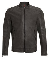 Strellson Shift Leather Jacket Schlam Taupe