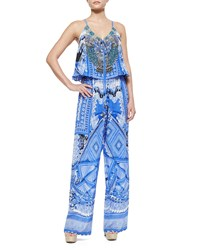 Camilla A World Between Printed Drawstring Jumpsuit A World Between T