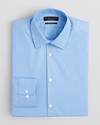 The Men's Store At Bloomingdale's End On End Solid Dress Shirt Regular Fit Blue Bay