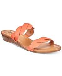 Styleandco. Style Co Wennde Slip On Wedge Sandals Created For Macy's Women's Shoes Peach