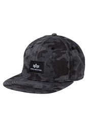 Alpha Industries Cap Black Camo