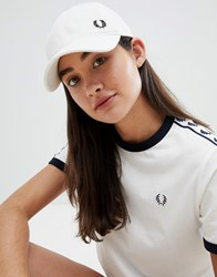 Fred Perry Wreath Logo Cap White