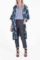 Adam By Adam Lippes Women S Floral Kimono Jacket Boutique1 Blue