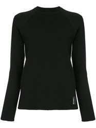 Chanel Vintage Side Stripes Ribbed Jumper Black