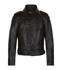 Vivienne Westwood Point Collar Motorcycle Jacket Male Black