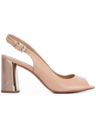 Baldinini Open Toe Sandals Nude Neutrals
