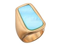 Robert Lee Morris Blue Mother Of Pearl Statement Ring Blue Ring