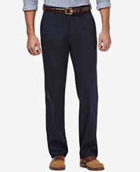 Haggar Premium No Iron Stretch Waist Classic Fit Pants Navy