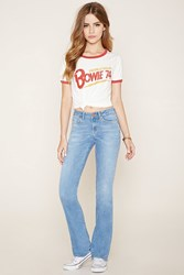 Forever 21 Mid Rise Flared Jeans