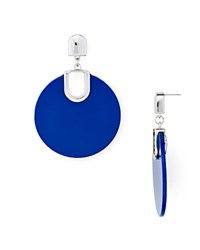 Aqua Large Disc Drop Earrings 100 Exclusive Blue