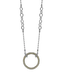 Lagos 18K Gold And Sterling Silver Enso Pendant Necklace 16 Silver Gold