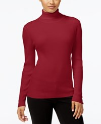 Styleandco. Style Co. Petite Ribbed Turtleneck Sweater Only At Macy's New Red Amore