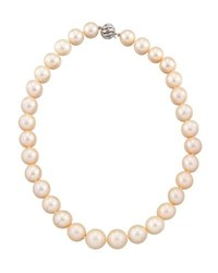 Belpearl 14K Graduated Peach Freshwater Pearl Necklace 18 L