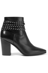 Saint Laurent Studded Leather Boots Black