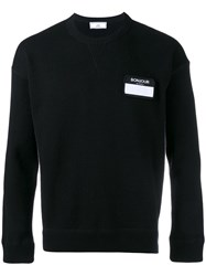 Ami Alexandre Mattiussi Name Tag Patch Jumper Black