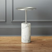 Cb2 Cuff Link Marble Side Table