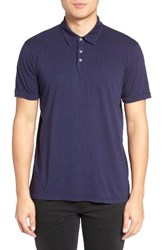 Velvet By Graham And Spencer Men's Bryant Jersey Polo Neptune