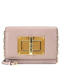 Tom Ford Natalia Small Leather Shoulder Pink
