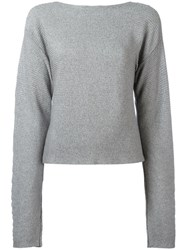 Thierry Mugler Cropped Jumper Grey