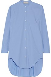 Studio Nicholson Teddy Oversized Cotton Poplin Shirt Light Blue