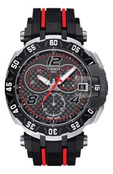 Tissot Men's T Race Sport Chronograph Watch 45Mm Black Red