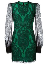 Alexander Mcqueen Fitted Lace Dress Black