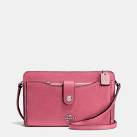Coach Messenger With Pop Up Pouch In Colorblock Leather Dk Rouge Multi
