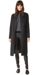 Vince Wool Shell Coat Dk Grey H Graphite