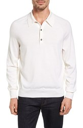 Loragi Men's Lora Gi Merino Wool And Silk Long Sleeve Polo
