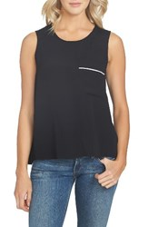 1.State Women's Split Back Tank Rich Black