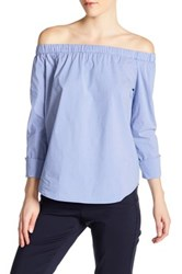 Philosophy Off The Shoulder Blouse Blue