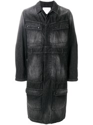 White Mountaineering Long Denim Coat Black
