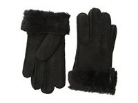 Ugg Tenney Glove With Leather Trim Black M Dress Gloves