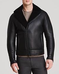 Theory Branson Sh Aphex Leather Jacket Black