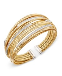 Macy's Diamond Cuff Bracelet 1 2 Ct. T.W. In 14K Gold Plated Sterling Silver Gold Over Sterling Silver