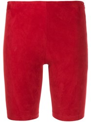 Manokhi Mid Rise Cycling Shorts Red
