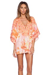 Johanne Beck Cynthia Short Kaftan Orange
