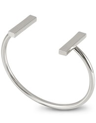French Connection Bar Cuff Bracelet Silver