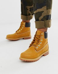 Timberland 6 Premium Wheat Leather Ankle Boots Beige