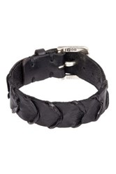 John Varvatos Handworked Scalloped Cuff Bracelet Black