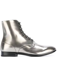 Raparo Lace Up Boots Metallic