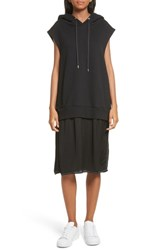 Public School 'S Allison Cotton Hoodie Dress Black