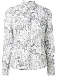 Paul Smith Ps By Cactus Sketch Print Shirt White