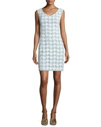 Tory Burch Brooklyn Sleeveless Lace Sheath Dress White Mint Women's