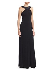 Emporio Armani Double Face Jersey Gown Black