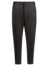 Y 3 Luxe Dropped Crotch Track Pants Grey