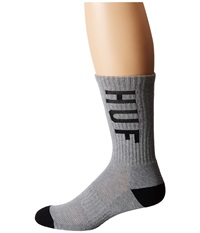 Huf Performance Crew Sock Grey Heather Crew Cut Socks Shoes Gray
